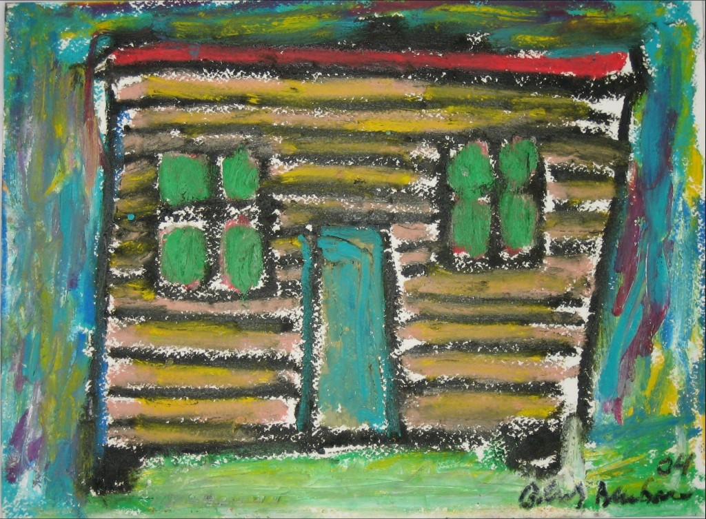 Shack With Green Windows